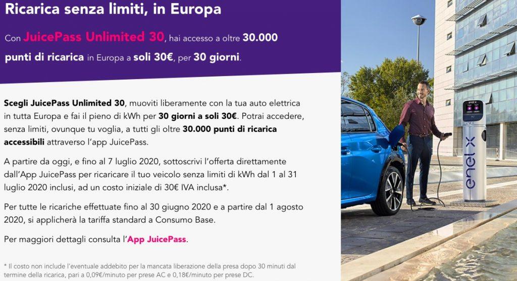 Flat EnelX 30 euro